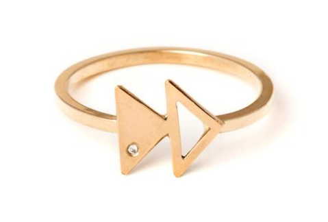 limbo jewelry gold triangle ring