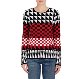 altuzarra geometric wool blend sweater