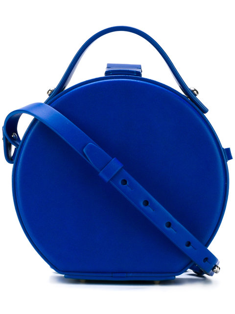 cobalt blue circle bag