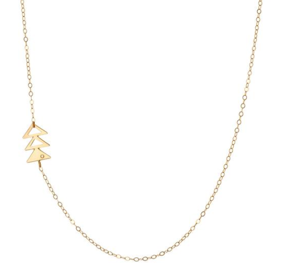 limbo jewelry gold triangle necklace