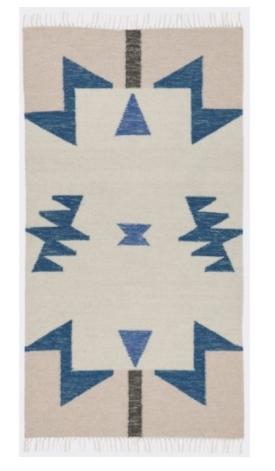 handmade geometric rug