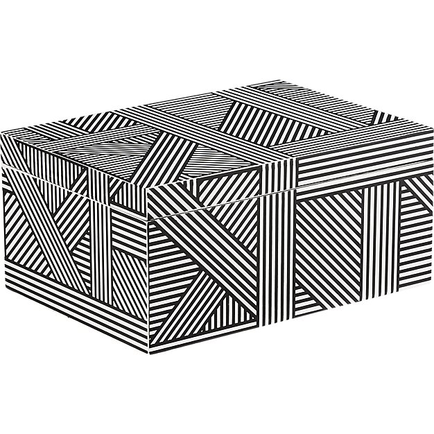 wooden black + white box