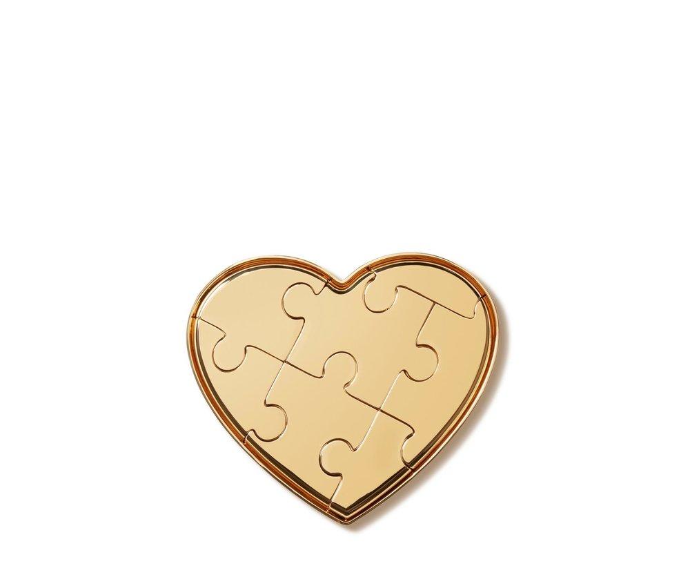 aerin brass heart puzzle
