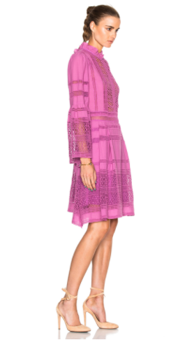 sea pink lace dress