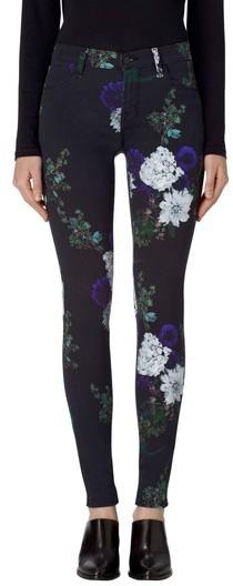 j. brand black floral skinny jeans