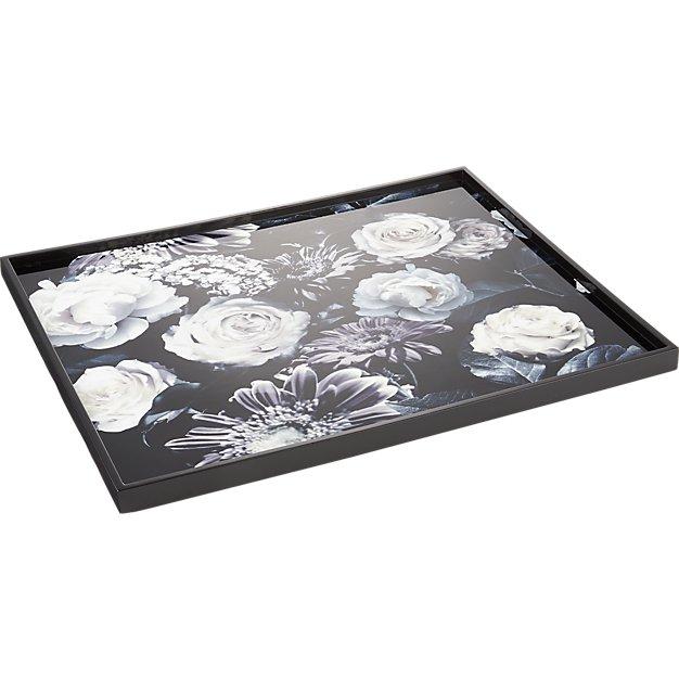 dark floral tray