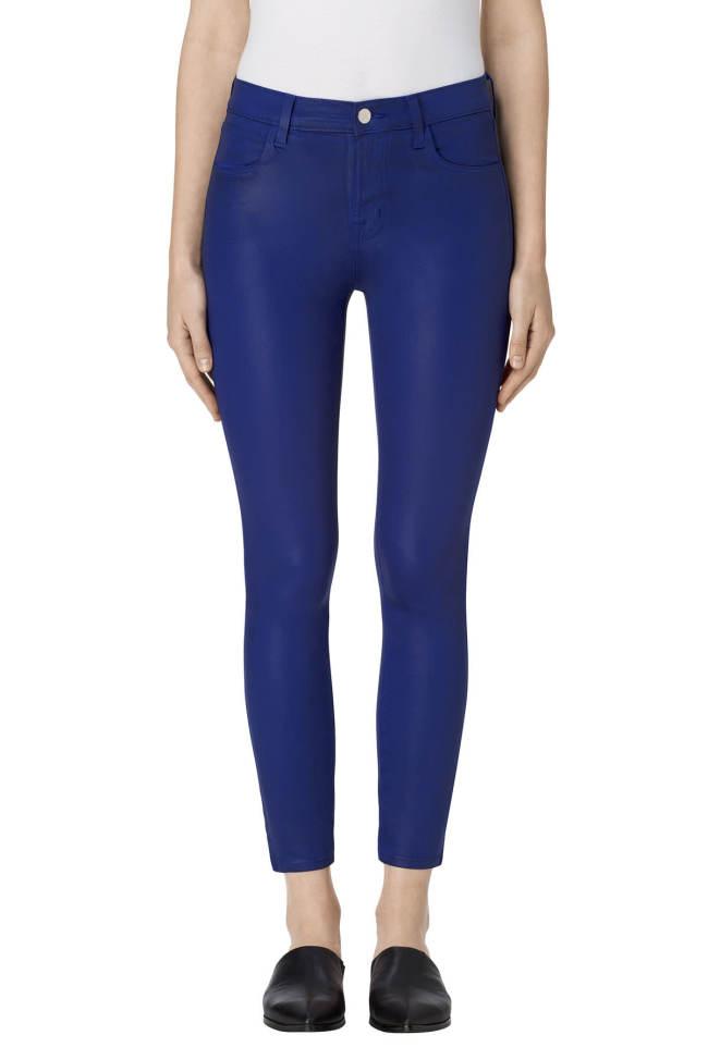 cobalt coated skinny jeans