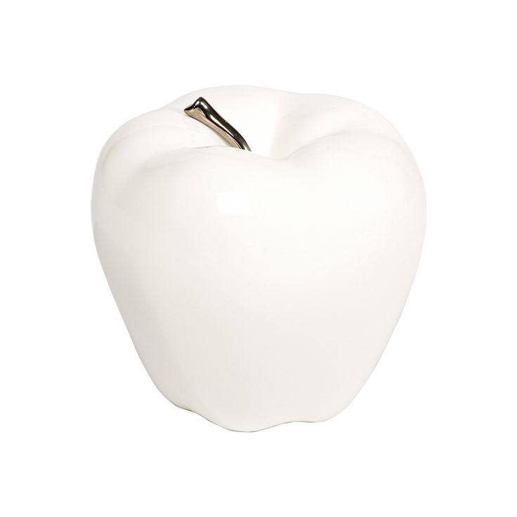 white decorative apple
