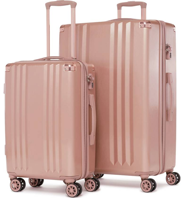 rose gold luggage set