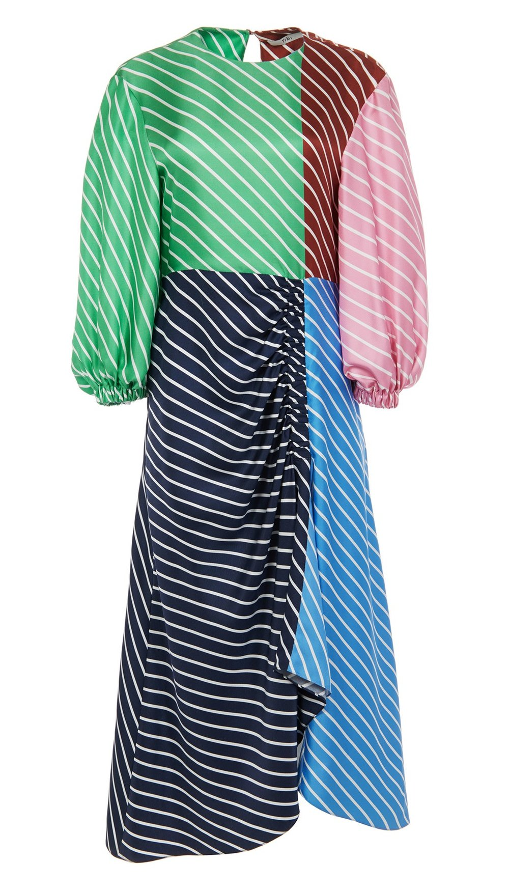 tibi multi-colored stripe dress
