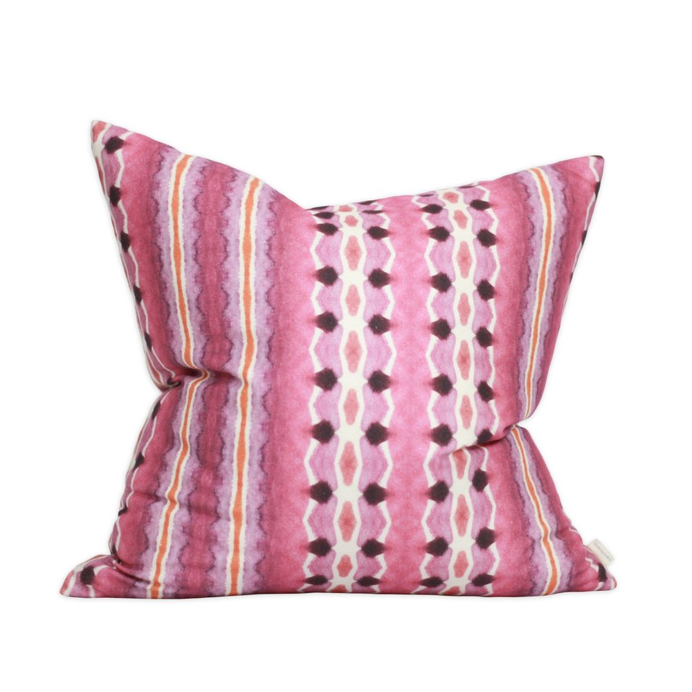 bunglo pink 'tangier' pillow