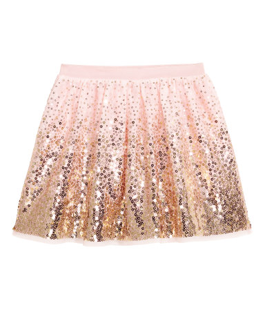 h&m tulle + sequin skirt
