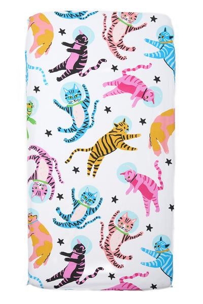 aelfie 'astrokitty' crib sheet