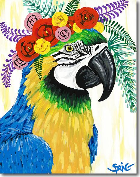 spring whitaker parrot art print
