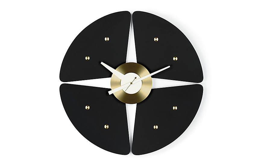 black + gold george nelson clock