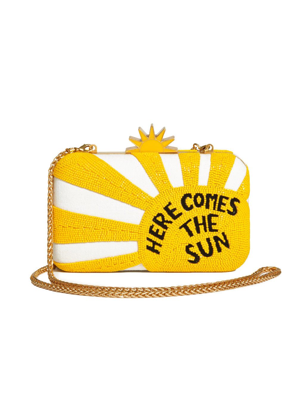 here comes the sun yellow clutch