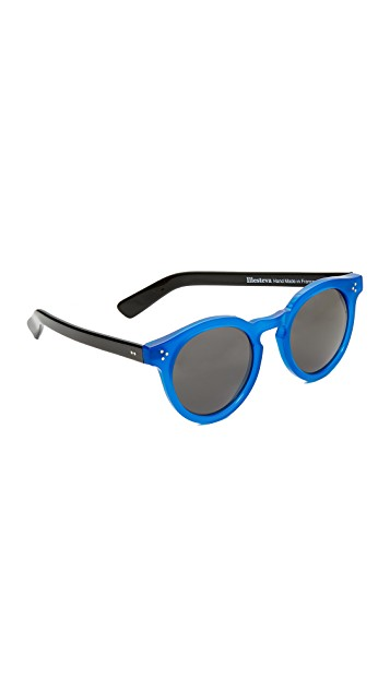 blue + black sunglasses
