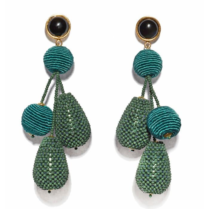 lizzie fortunato green + blue earrings