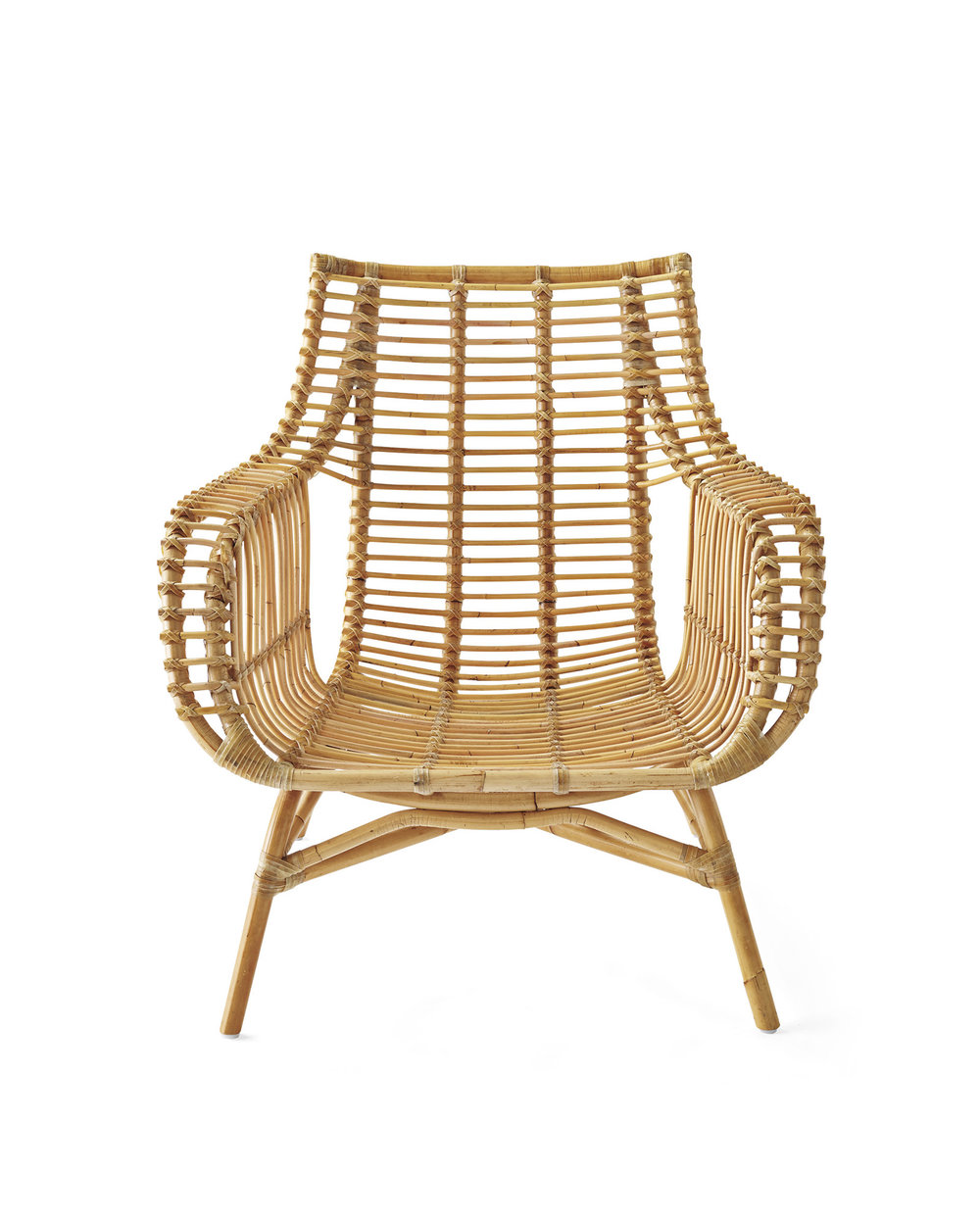 serena & lily rattan chair