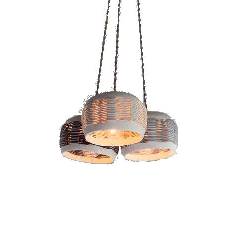 pigeon toe ceramics woven chandelier