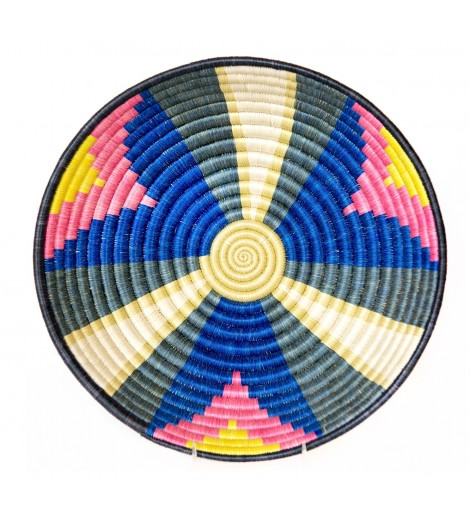 multi-colored woven basket