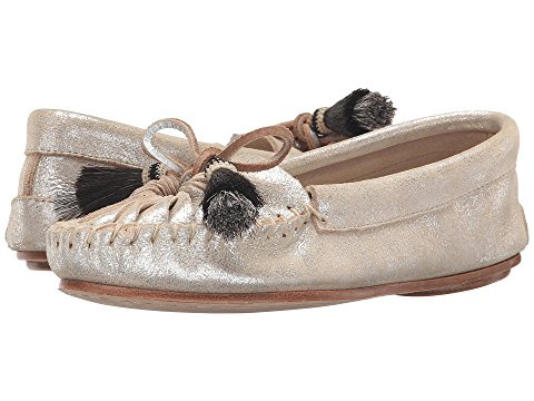 loeffler randall metallic suede loafers