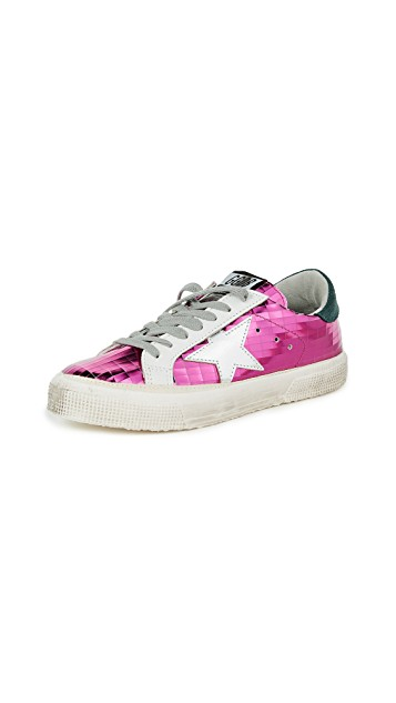 fuchsia golden goose sneakers