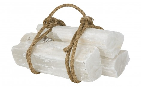 selenite fireplace logs