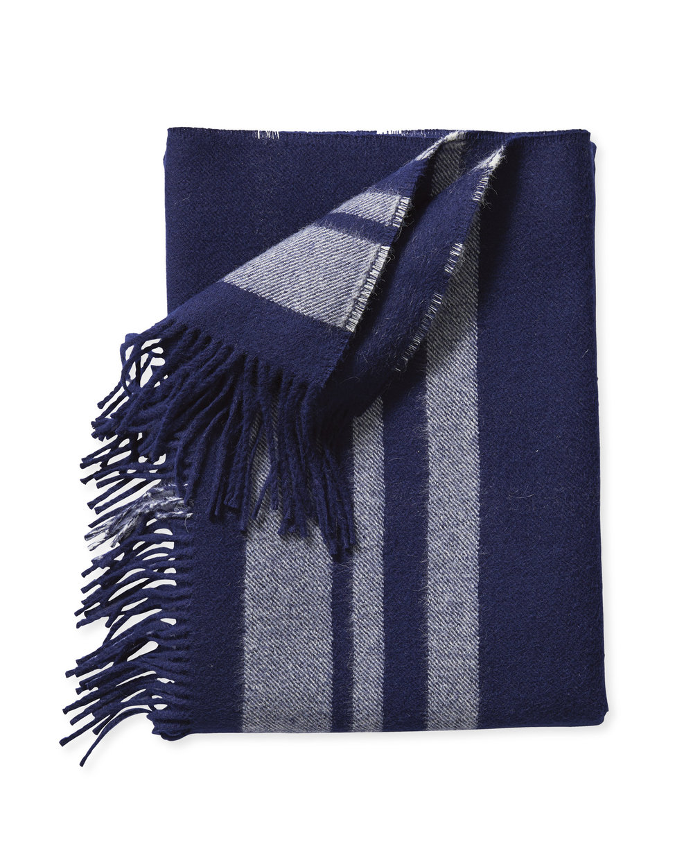 navy wool throw