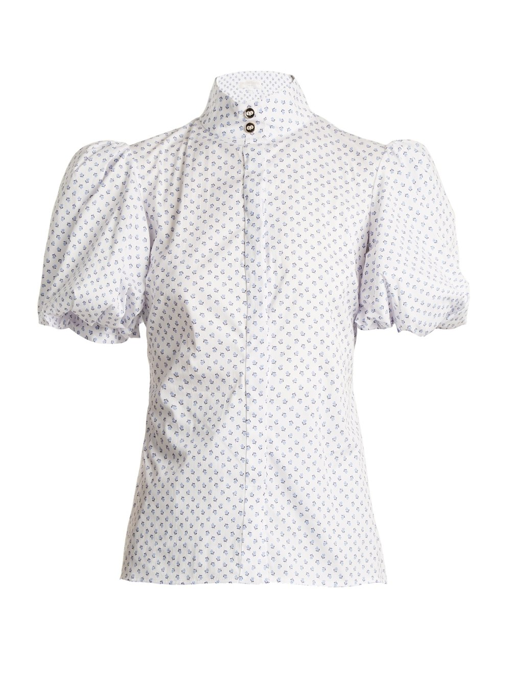 caroline constas white high-neck top