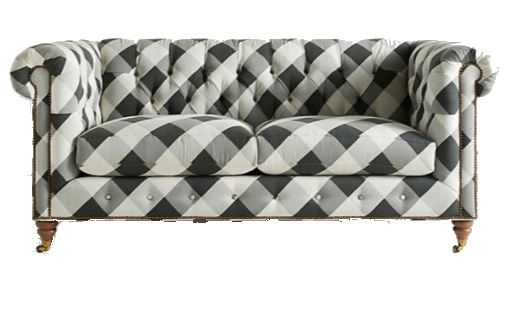 black + white buffalo check sofa