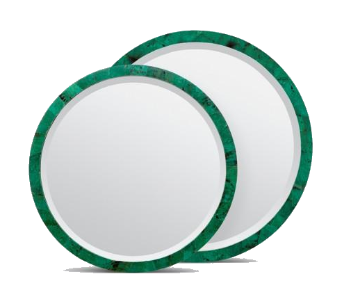 emerald shell mirror