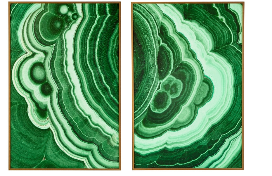 malachite wall art