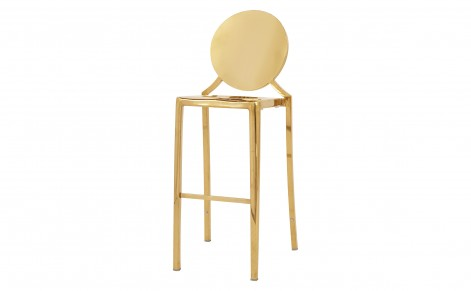 stainless steel gold bar stool