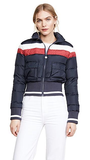vintage inspired puffer jacket
