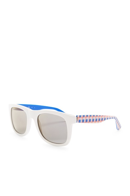 white + blue sunnies