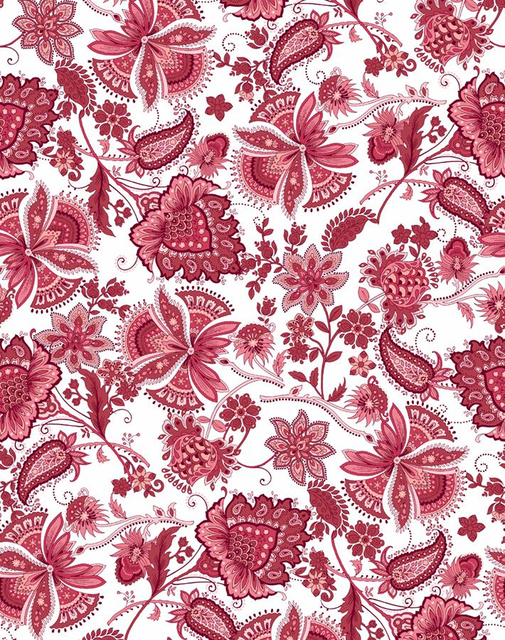 red vintage-inspired wallpaper
