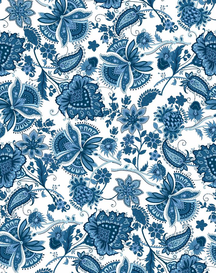 blue vintage-inspired wallpaper
