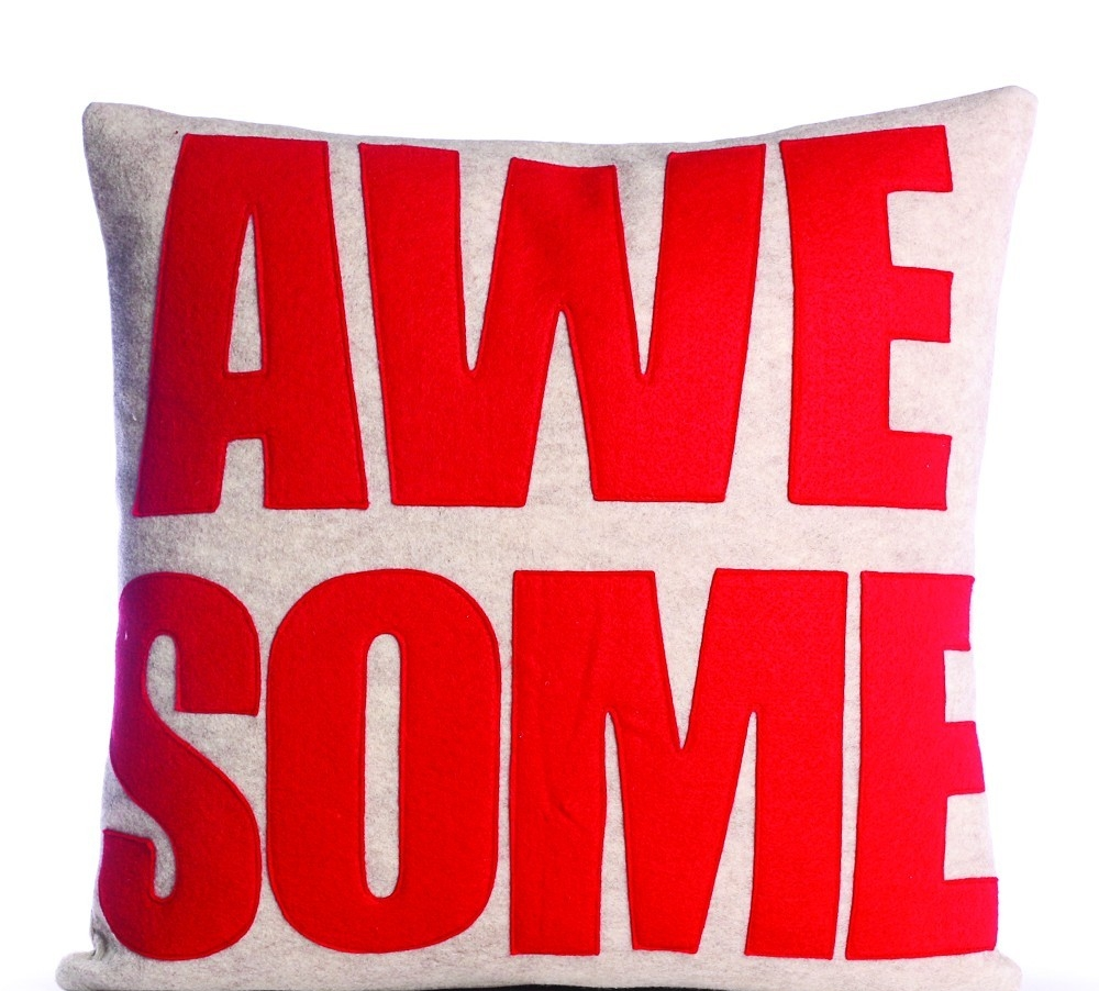 alexandra ferguson red awesome pillow