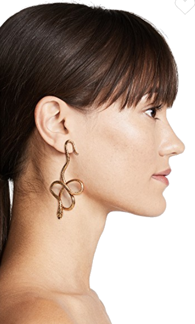 jennifer behr gold snake earrings