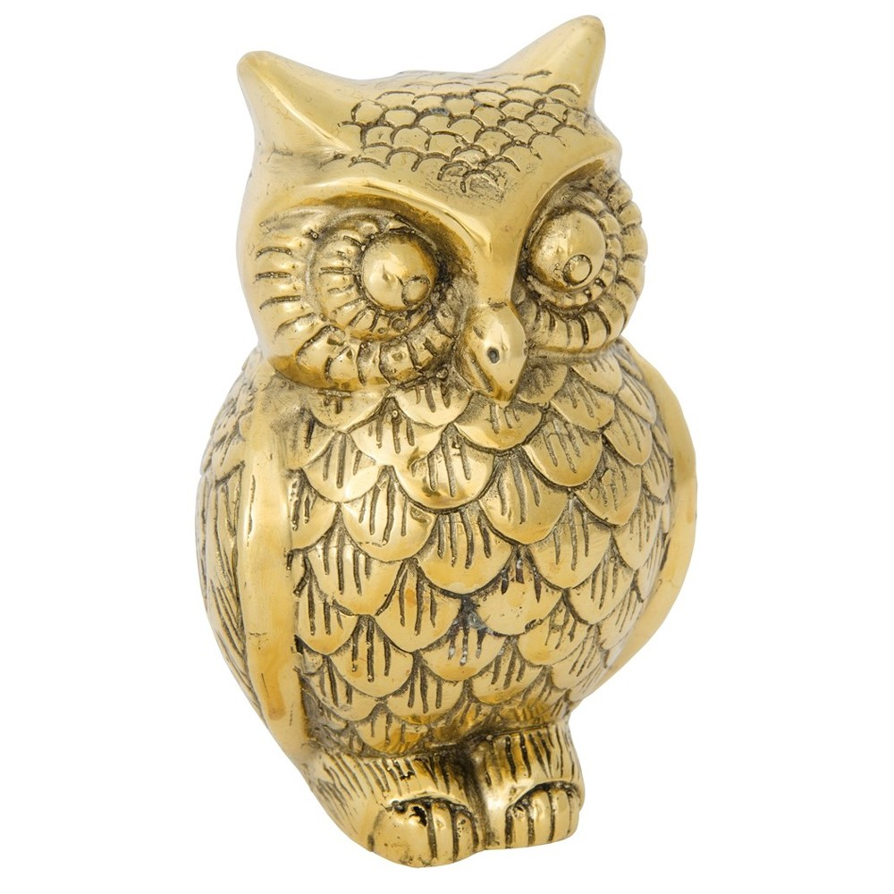 decorative brass owl