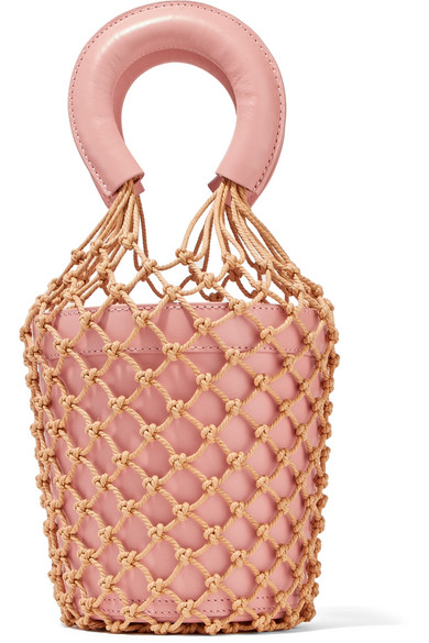staud blush bucket bag