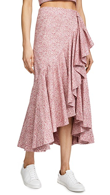 petersyn pink ruffle skirt
