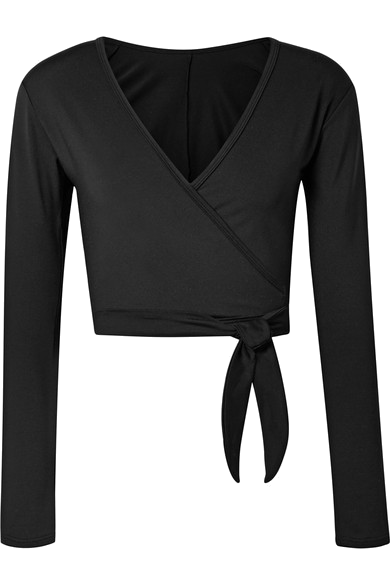 ballet beautiful black wrap sweater