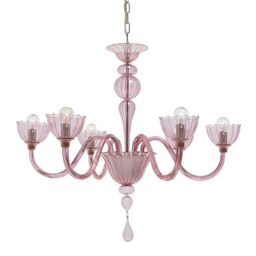 pink glass floral chandelier