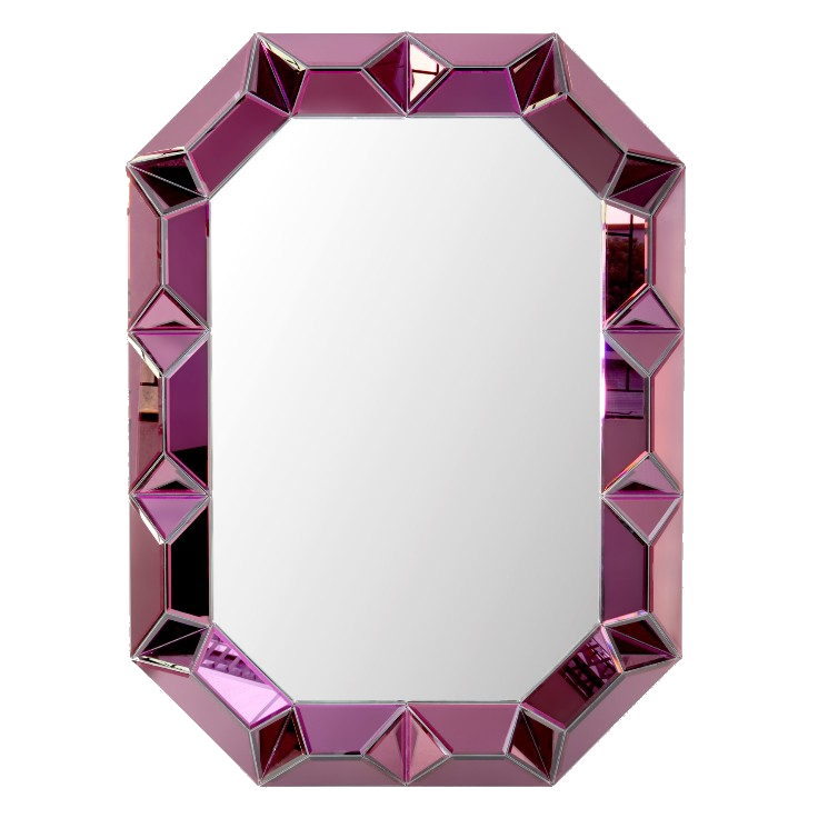 amethyst faceted wall mirror