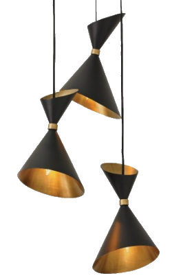 brass + bronze pendant light