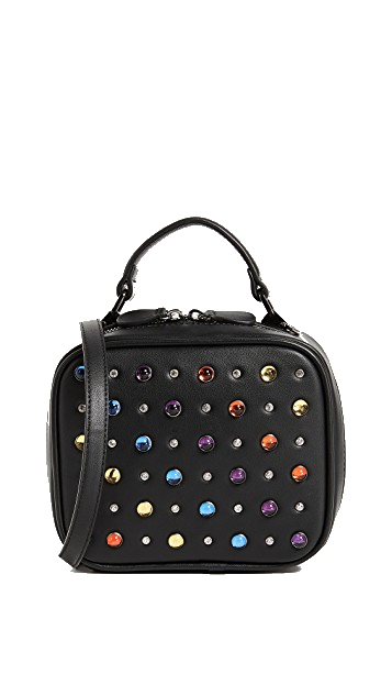 black jewel box bag