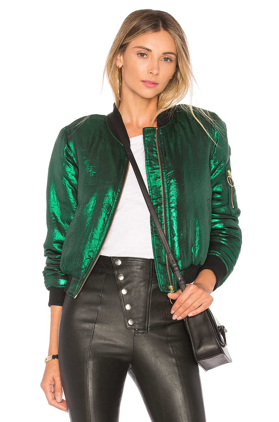 house of harlow green bomber