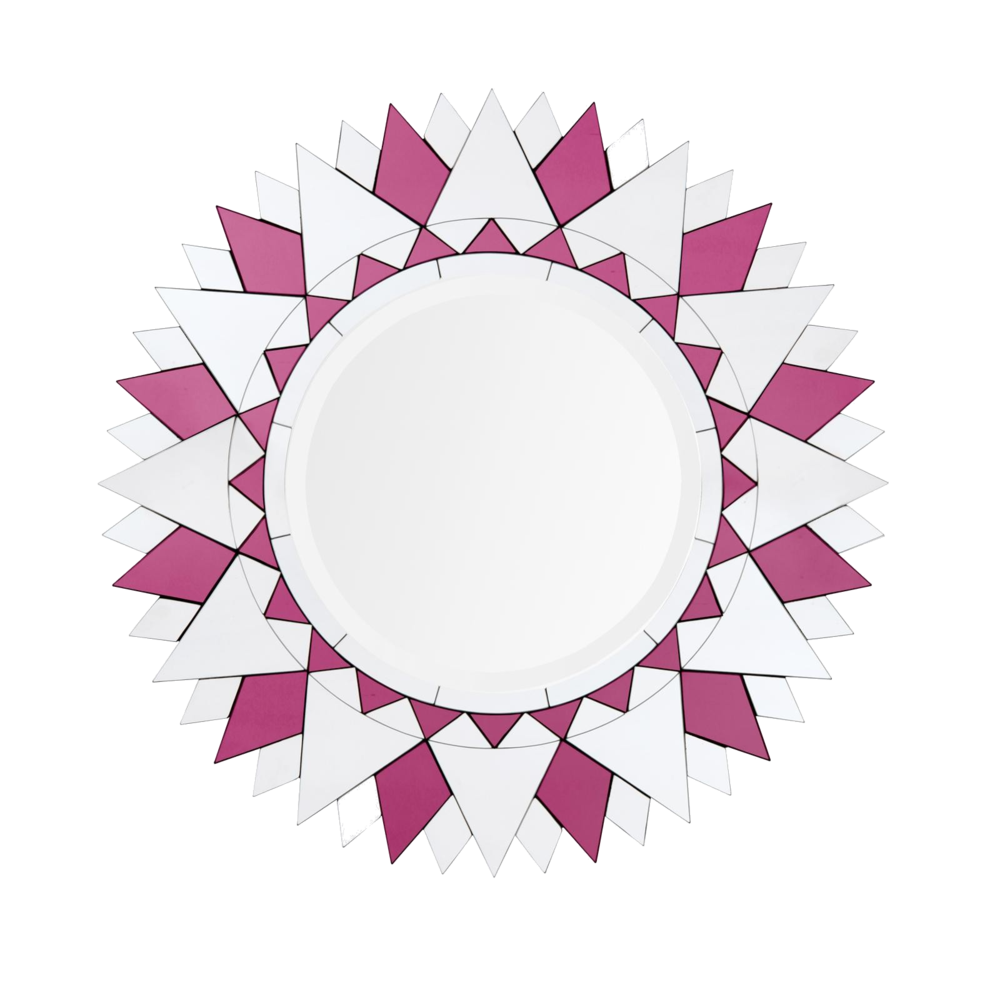 jewel toned wall mirror